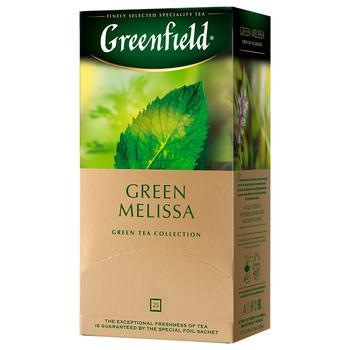Чай зелений Greenfield Green Melissa 37,5г 25шт - купити, ціни на Ашан - фото 1