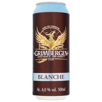 Grimbergen Blanche Light Beer 6% 0,5l - buy, prices for CityMarket - photo 1