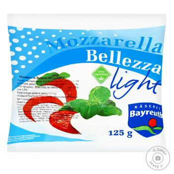 Bellezza Mozzarella Light Cheese 8% 125g - buy, prices for Furshet - image 1