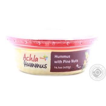 Хумус Achla с кедровыми орехом 400г - купить, цены на МегаМаркет - фото 1