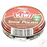 Крем коричневый Kiwi для обуви 50мл