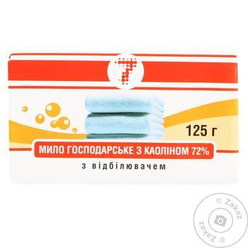Мыло хозяйственное Семерка с отбеливателем 72% 125г