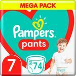 Подгузники-трусики Pampers Pants размер 7 Maxi 17+кг 74шт
