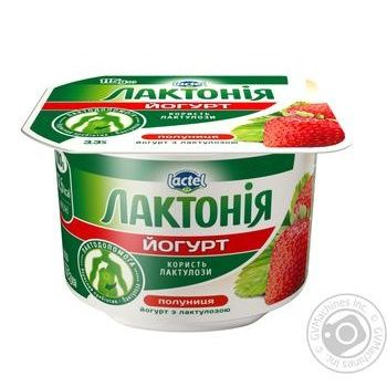 Йогурт Лактонія Полуниця з лактулозою 3.3% 115г