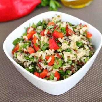 Холодний рисовий салат