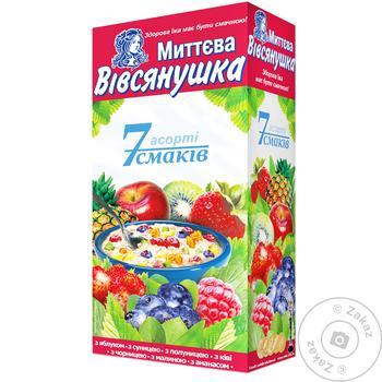 Vivsyanushka Oatmeal porridge 7 flavors of Assorted Instant 7*40g - buy, prices for Auchan - photo 1