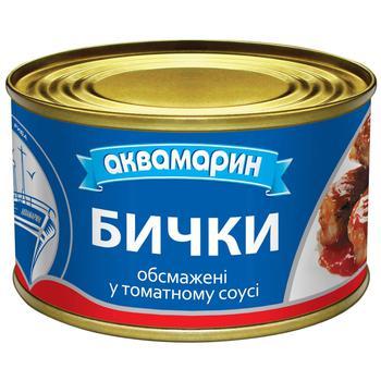 Бички Аквамарин обжаренные в томатном соусе 230г - купить, цены на Ашан - фото 1