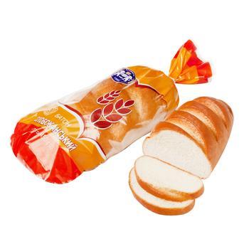 Батон Кулиничі Слобожанський пшеничний вищого гатунку нарізаний 450г - buy, prices for Auchan - photo 1