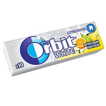 Жевательная резинка Orbit White Фруктовый коктейль 14г