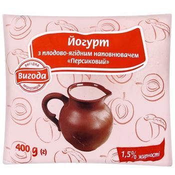 Йогурт Выгода персиковый 1,5% 400г