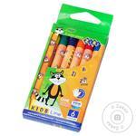 Олівці воскові ZiBi Kids Line 6 кольорів