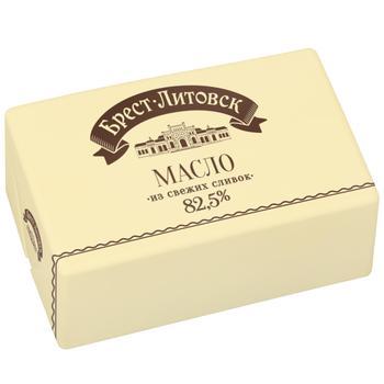 Масло Брест-Литовск солодковершкове несолоне 82.5% 180г - купити, ціни на Восторг - фото 1