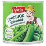 Горошок Varto зелений консервований 420г