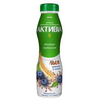 Бифидойогурт Активиа черника-5 злаков 1,5% 290г
