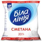Сметана Белая Линия 20% 400г