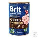 Влажный корм для собак Brit Premium By Nature Chicken with Hearts курица 400г