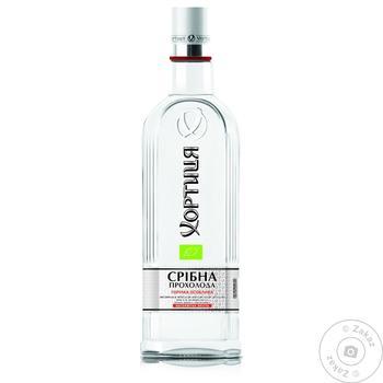 Водка Хортица Серебряная Прохлада 40% 0,5л - купить, цены на Novus - фото 1