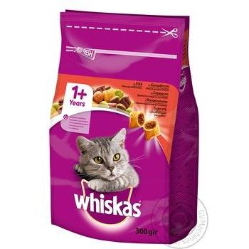 Корм сухой Whiskas для взрослых кошек с говядиной 300г - купить, цены на Novus - фото 2