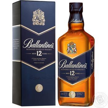 Віскі Ballantine's 40% 12років в коробці 0,75л