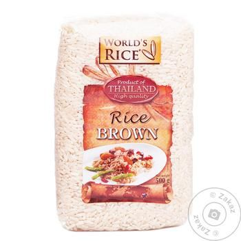 Groats rice World's rice brown 500g - buy, prices for MegaMarket - image 1