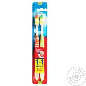 Зубна щітка Colgate Експерт чистоти видаляє бактерії середньої жорсткості 1+1шт - купити, ціни на Восторг - фото 2