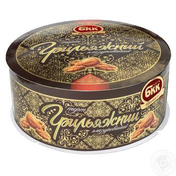 Торт БКК грильяжный глазированный 450г - купить, цены на Восторг - фото 1