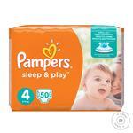 Подгузники Pampers Sleep & Play 4 Maxi 9-14кг 50шт