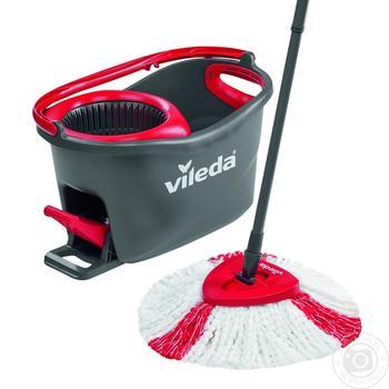 Комплект Vileda Easywring Clean Turbo для уборки серо-красный
