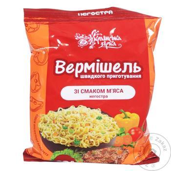 Вермишель Українська Зірка со вкусом мяса неострая 65г - купить, цены на Таврия В - фото 1