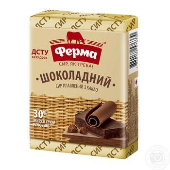 Сыр плавленный ферма шоколадный 30% 90г - купить, цены на Фуршет - фото 2