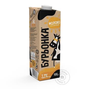 Молоко Бурьонка ультрапастеризоване 3.2% 1л - купити, ціни на Novus - фото 1