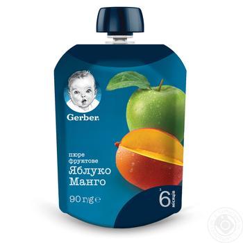 Пюре Gerber Яблоко и манго для детей с 6 месяцев 90г - купить, цены на Восторг - фото 1