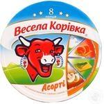 Сир плавлений 40% Асорті Весела Корівка 120г