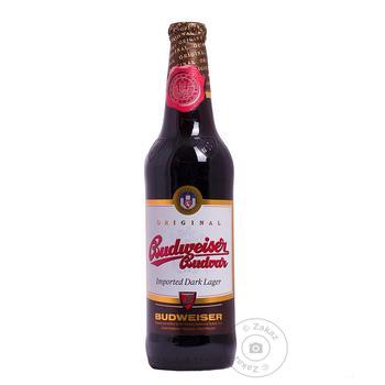 Пиво Budweiser темное фильтрованное 4,7% 0,33л