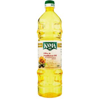 Kama Refined Sunflower-Olive Oil 1l - buy, prices for CityMarket - photo 1