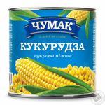 Кукуруза Чумак сахарная нежная консервированная 425г железная банка Украина