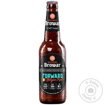 Пиво Волинський Бровар Forward світле нефільтроване 8% 0,35л