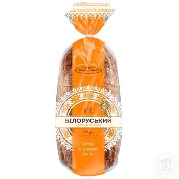 Хлеб КиевХлеб Белорусский ржаной нарезанный 700г - купить, цены на Фуршет - фото 1