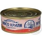М'ясо Криля натуральне з додаванням олії Аквамарин 105г