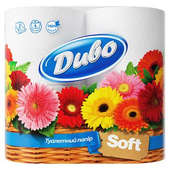 Toilet paper Divo white 2 ply 4 pcs