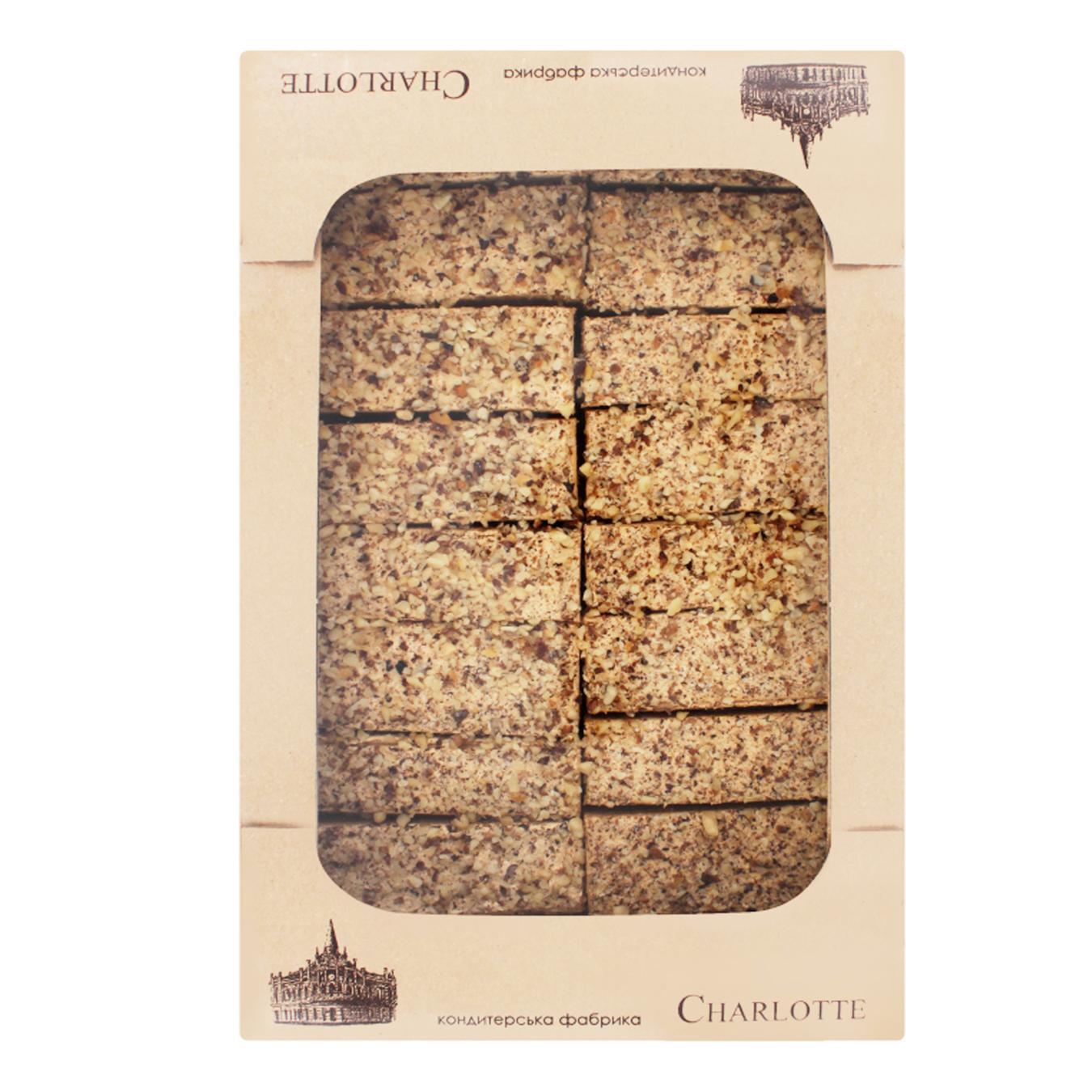 Купить 6785, Тістечко Шарлотте Мікадо карамельно-горіхове фас. ваг.