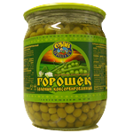Vegetables pea green canned 510g Ukraine