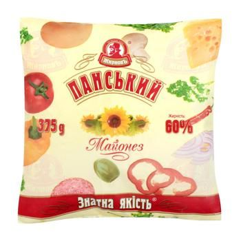 Майонез Жирновъ Панський 60% 375г - купить, цены на Ашан - фото 1