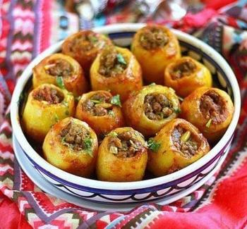 Картофель, фаршированный печенью