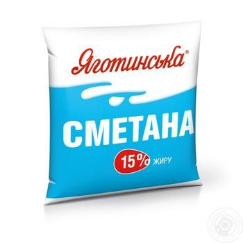Sour cream Yagotynska 15% 400g - buy, prices for Novus - image 1