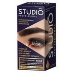 Крем-фарба для брів і вій Studio Professional чорна 30+20мл