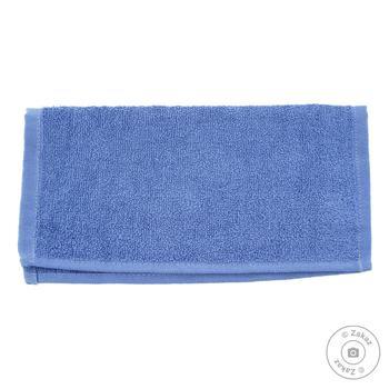 Серветка махрова без бордюра синій 100% бавовна 30*30см 400г/м2 16/1 SAFFRAN - купить, цены на Novus - фото 1