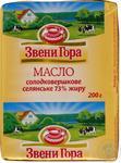 Масло Звени Гора сладкосливочное селянское 73% 200г