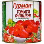 Томаты Гурман очищенные в томатном соке 2600г