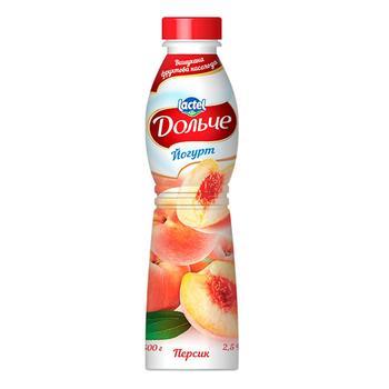 Йогурт Дольче персик 2,5% 500г